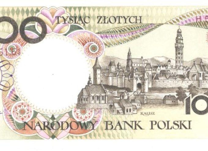 Kalisz na tysiąc-złotowym banknocie