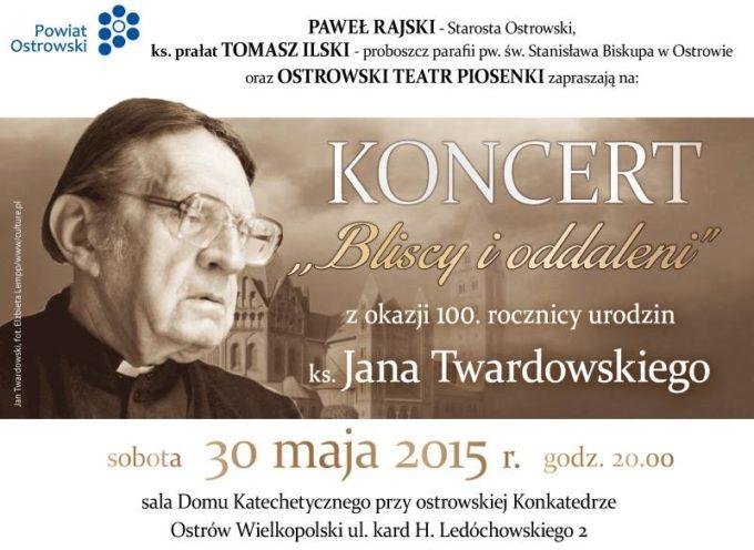 Są zaproszenia na koncert z okazji 100. urodzin ks. Twardowskiego