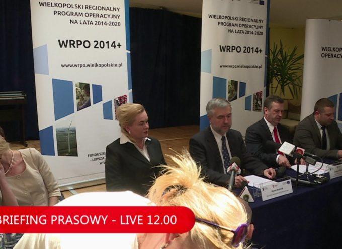 Briefing prasowy z udziałem Marka Woźniaka, Marszałka Województwa Wielkopolskiego