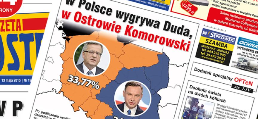 Gazeta Ostrowska o chłodnych majostaszkach, wyborach i wielkiej dziurze