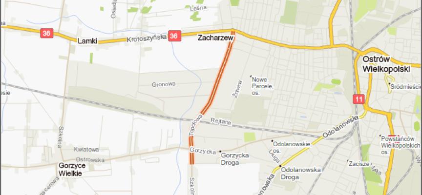 Ciąg pieszo-rowerowy wzdłuż Topolowej