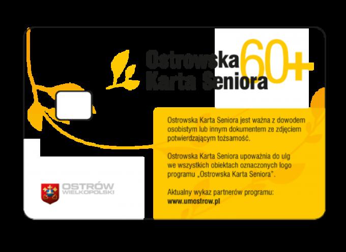 Ostrowska Karta Seniora od lipca
