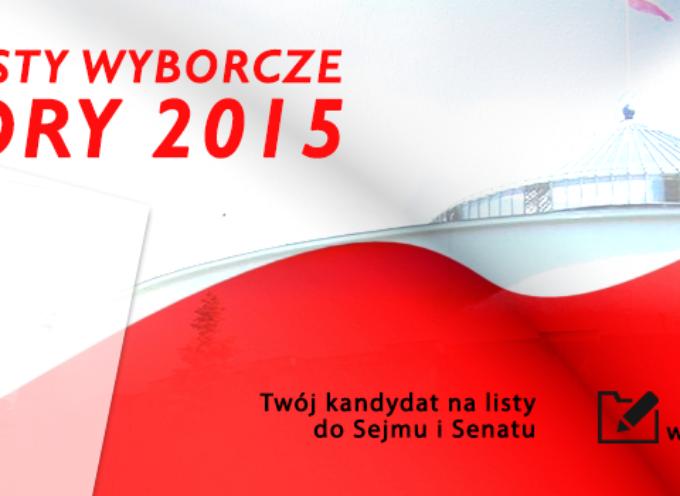 Twój kandydat na listy do Sejmu i Senatu – WYBORY 2015 – pierwsze przesłane propozycje