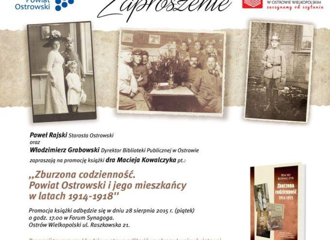 Nowa książka o powiecie ostrowskim w latach 1914-1918