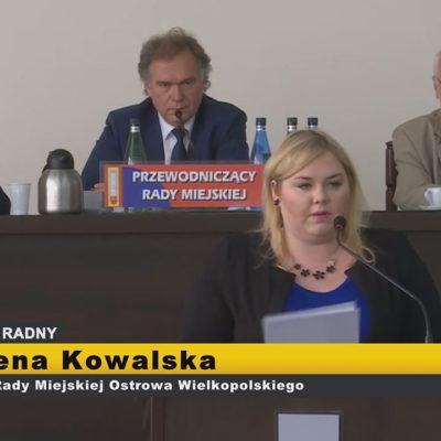 Milena Kowalska – interpelacje  XI Sesja Rady Miejskiej Ostrowa Wielkopolskiego