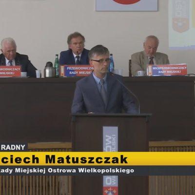 Wojciech Matuszczak – interpelacje XI Sesja Rady Miejskiej Ostrowa Wielkopolskiego