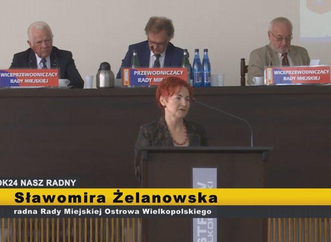Sławomira Żelanowska – interpelacje  XI Sesja Rady Miejskiej Ostrowa Wielkopolskiego