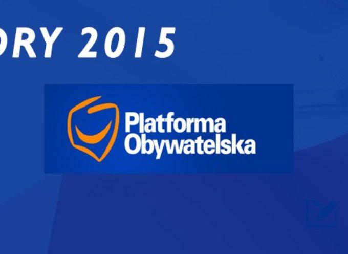 Listy kandydatów Platformy Obywatelskiej do Sejmu i Senatu.