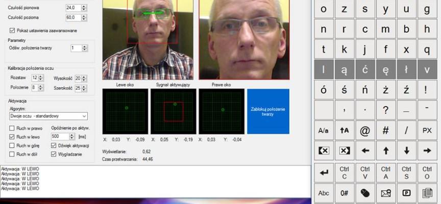 System Sensor Cam – czyta ruchy gałki oka