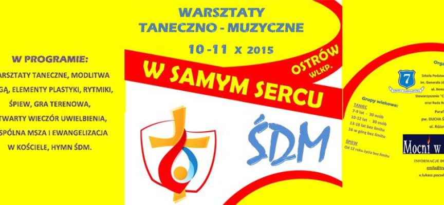 """WARSZTATY TANECZNO – MUZYCZNE prowadzone przez Diakonię Muzyczną """"Mocni w Duchu"""""""