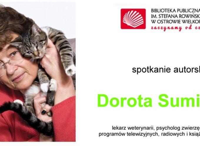 O psach i kotach w bibliotece – gość Dorota Sumińska