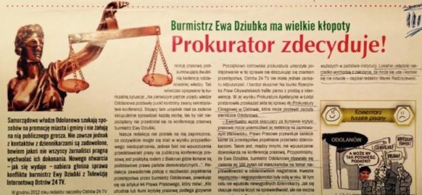 Była burmistrz Ewa Dziubka wygrywa w sądzie w burmistrzem Odolanowa