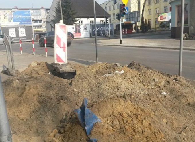 Piąty miesiąc prac na skrzyżowaniu Harcerska/Kaliska