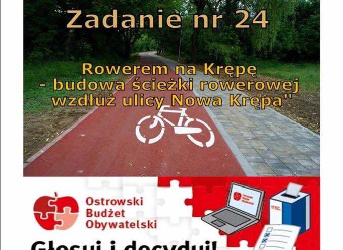 Rowerem na Krępę – zagłosuj