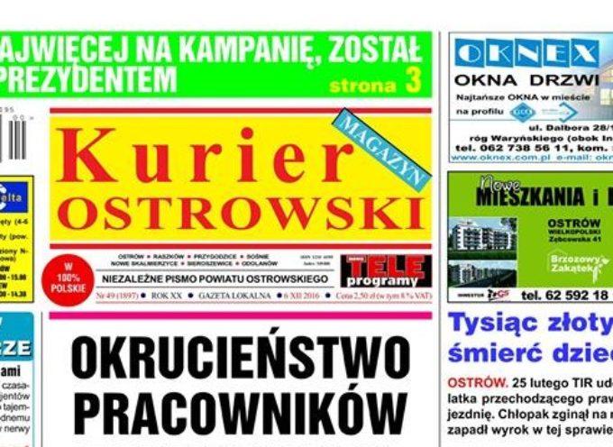 """Zastępca prezydenta wspierał komitet wyborczy B.Klimek? – o sprawie pisze """"Kurier Ostrowski"""""""