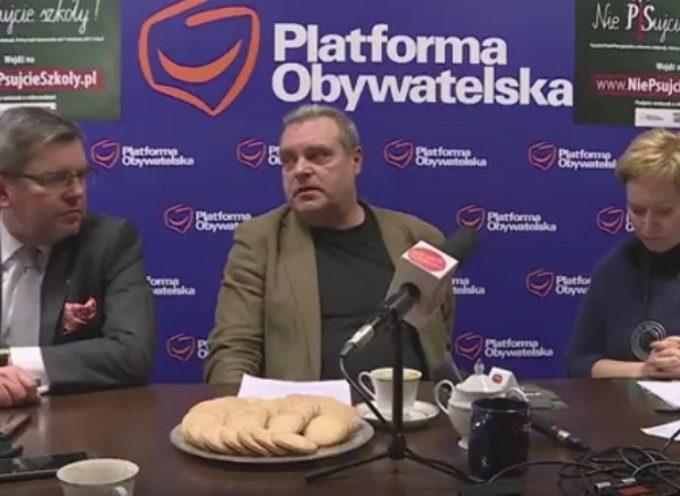 Konferencja – poseł PO Jarosław Urbaniak i Związek Nauczycielstwa Polskiego