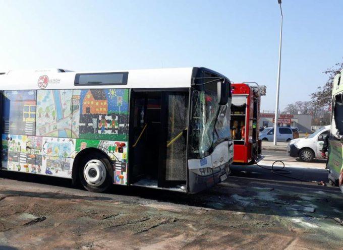 Wypadkowe autobusy MZK – 7 rannych