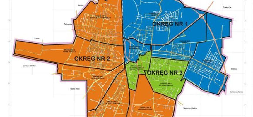 Trzy okręgi wyborcze w Ostrowie Wielkopolskim