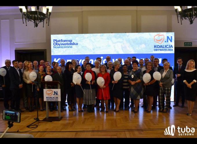Kandydaci Koalicji Obywatelskiej na radnych i prezydenta