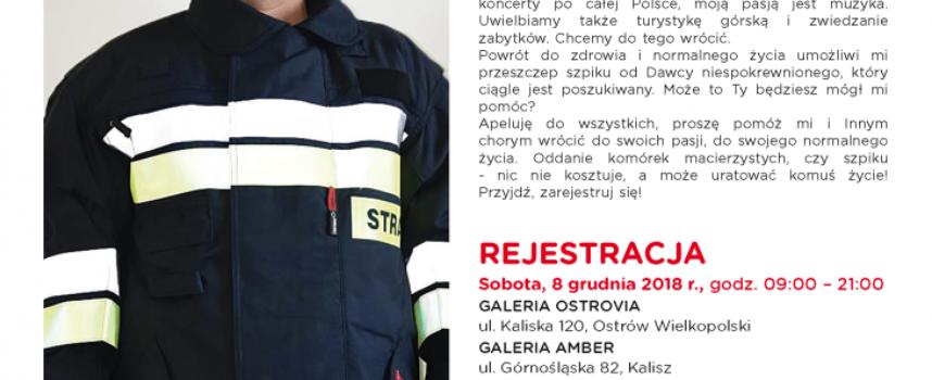 Strażak Jacek Oblamski już po przeszczepie