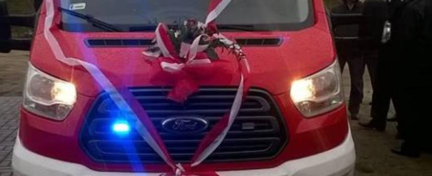 Nowy samochód strażaków ze Szklarki
