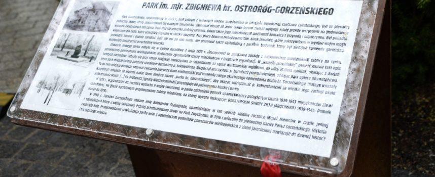 Park Gorzeńskiego otwarty