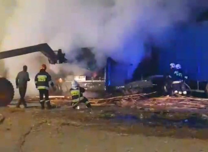Pożar w Jaźwinach, duże straty