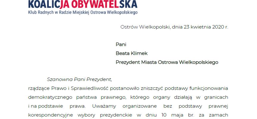 Radni Koalicji Obywatelskiej z ważnym apelem do prezydent Ostrowa