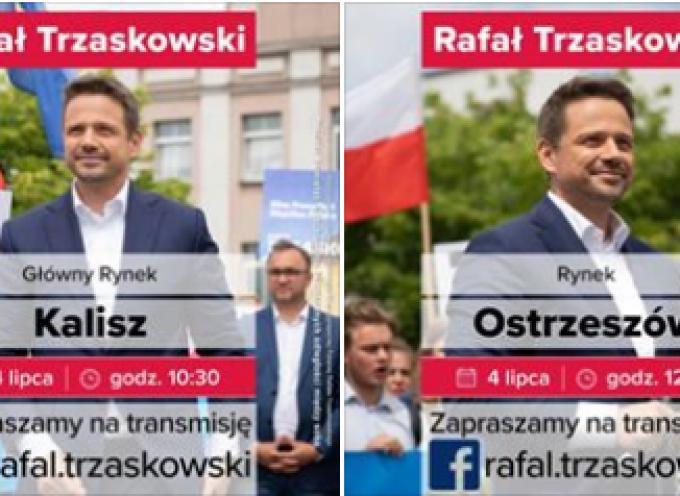 Rafał Trzaskowski w południowej Wielkopolsce