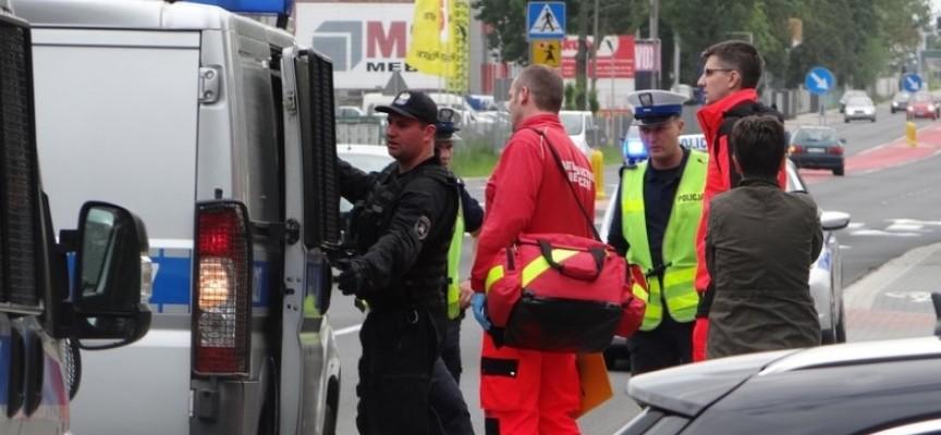 Rowerzysta wymachiwał bronią podczas kontroli policji