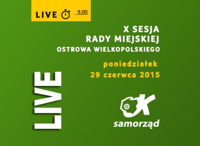 X Sesja Rady Miejskiej Ostrowa Wielkopolskiego – LIVE – godz. 9.00
