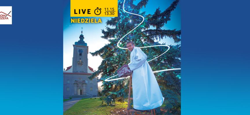 Transmisja Mszy Świętej z Kostowa i wspólne strojenie choinki przed kościołem