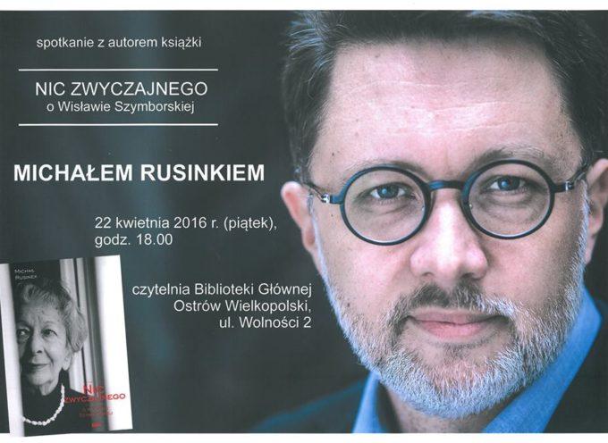 Spotkanie z bibliotece z Michałem Rusinkiem