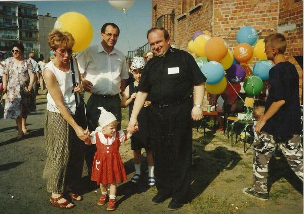 Śp. ks. Czesław Majorek - nasz przyjaciel i b.Prezydent Ostrowa Wlkp.M.Kruszyński z rodziną