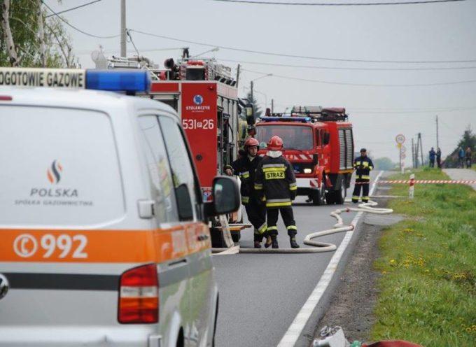 Rozszczelnienie gazociągu w Przygodzicach
