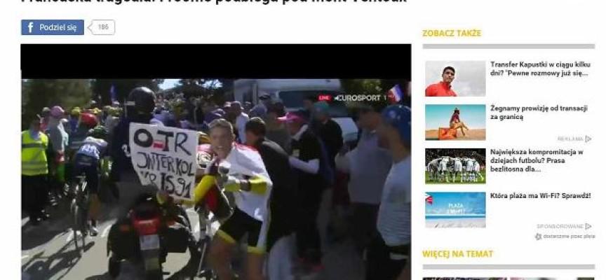 Asystent senatora PiS antybohaterem Tour de France