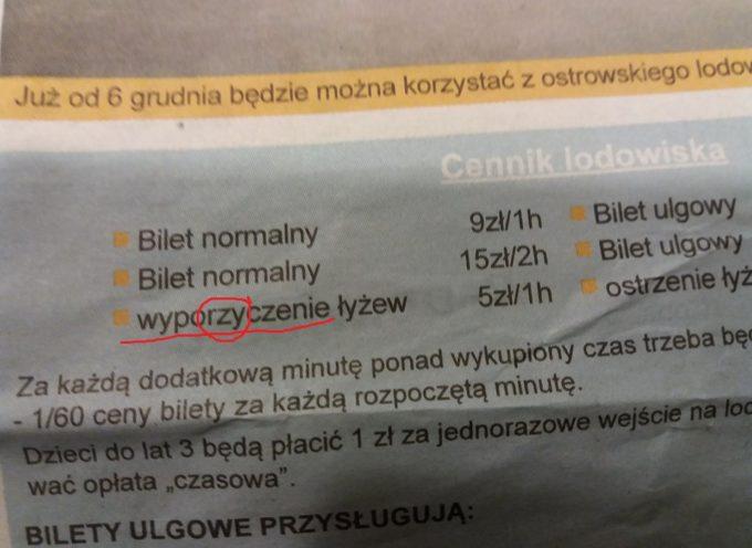 Błędy ortograficzne w miejskiej gazetce!