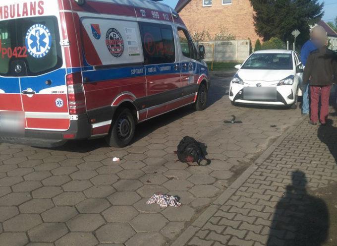 Wypadek na hulajnodze – ulica Owsiana