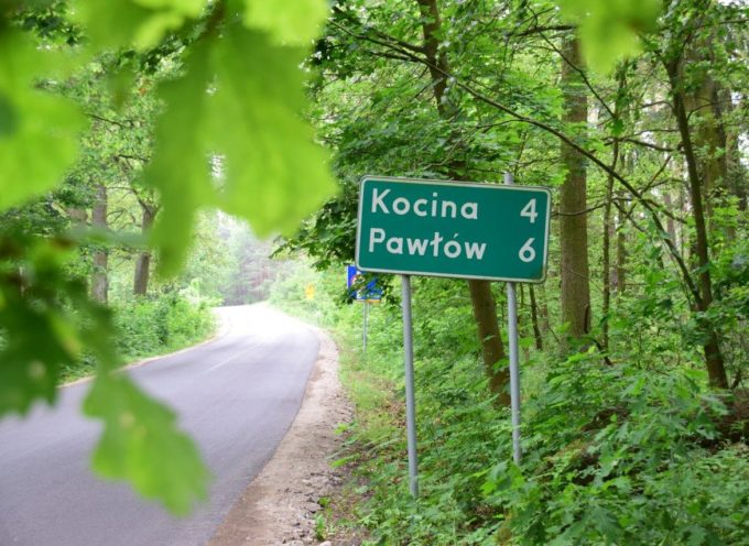 Nowa nawierzchnia drogi Sośnie Pawłów